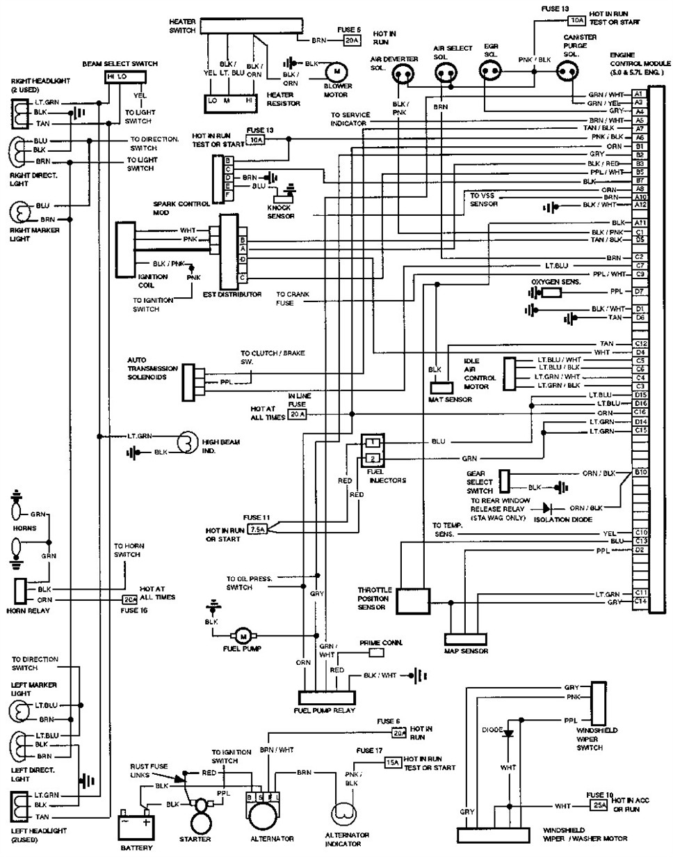 1994 C1500 Wiring Diagram on freightliner dash diagram