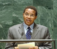 Tanzanian President Jakaya Kikwete at UN 2009
