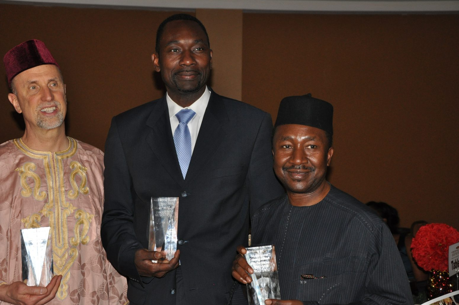 AfriPro gives top awards to NBA's Dikembe Mutombo, USAfrica's Chido Nwangwu, NFL's Amobi Okoye, Indego Africa for enhancing Africa, globally