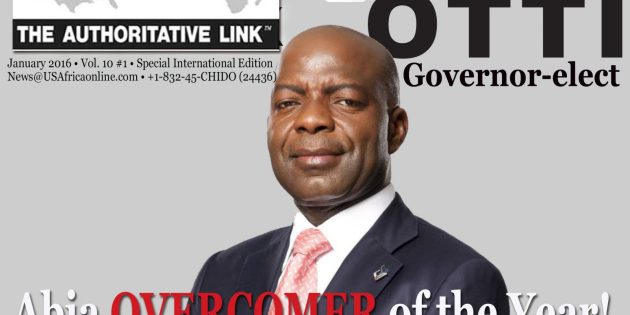 USAfrica names Gov-Elect Alex Otti as Abia OVERCOMER of the year