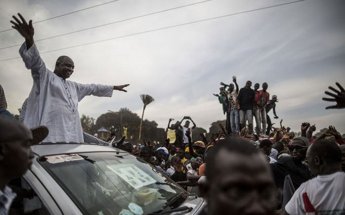 African troops move into Gambia as elected president sworn in; Gambians erupt in celebration