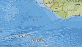 2 Earthquakes measuring 6.8 hit Liberia's coastal sea