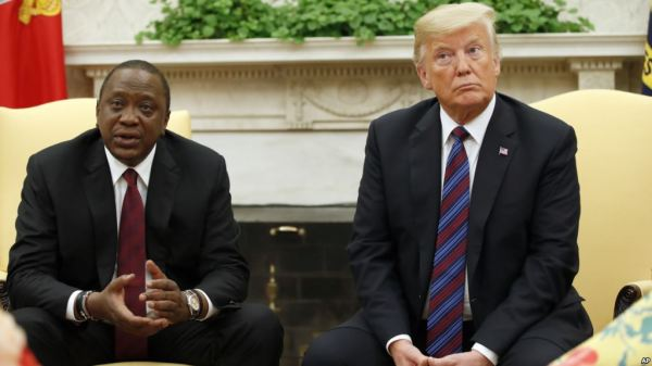 Kenya's President returns home after meeting with Trump on trade, security