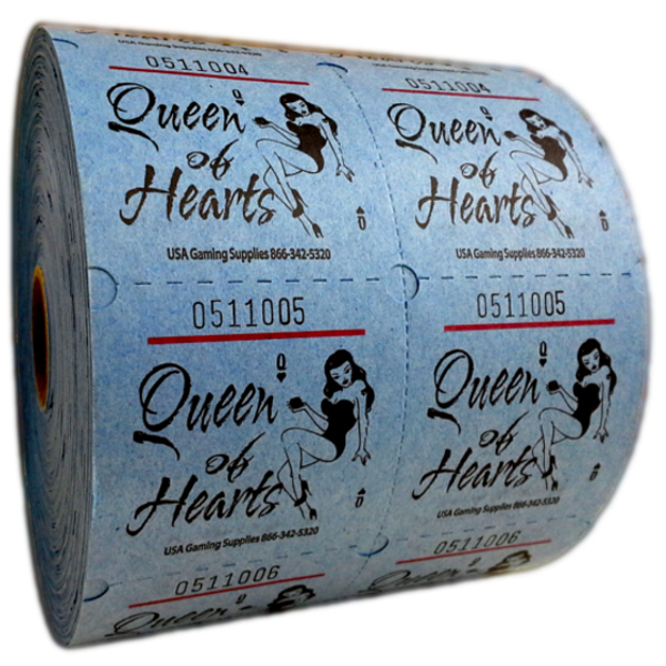Queen Of Hearts Raffle Tickets
