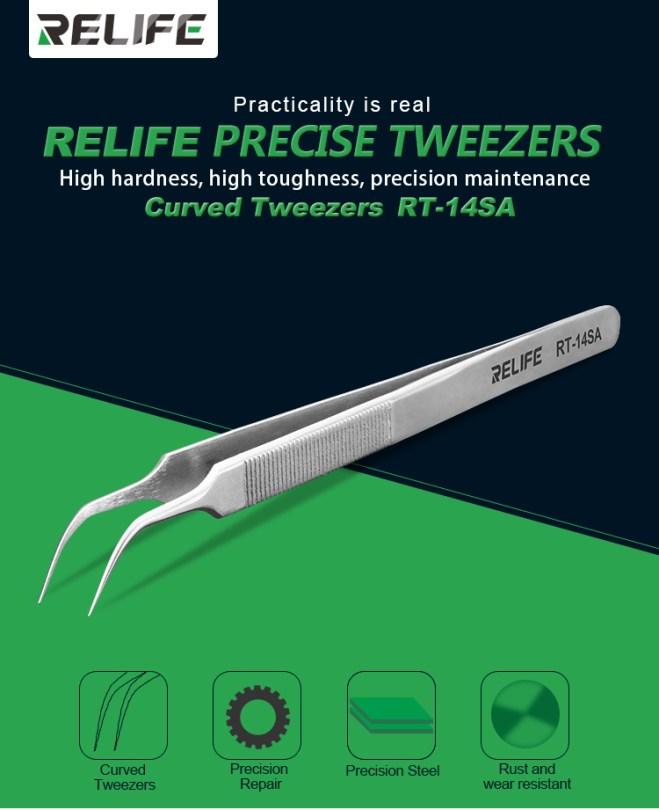RELIFE RT-14SA Curved TweezersRELIFE RT-14SA Curved Tweezers