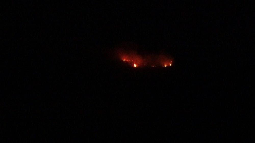 Uşak'ta çıkan orman yangını paniğe neden oldu