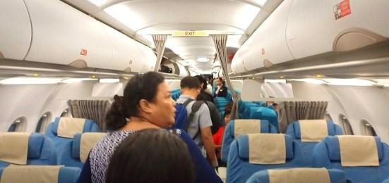 フィリピン航空の機内