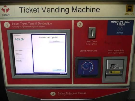 フィリピンの電車(MRT/LRT)のbeep cardのチャージ方法