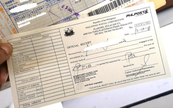 パスポートPHLPOSTで郵便物の受け取りの手数料