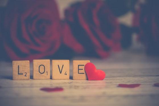 ロマンス英語文字LOVE