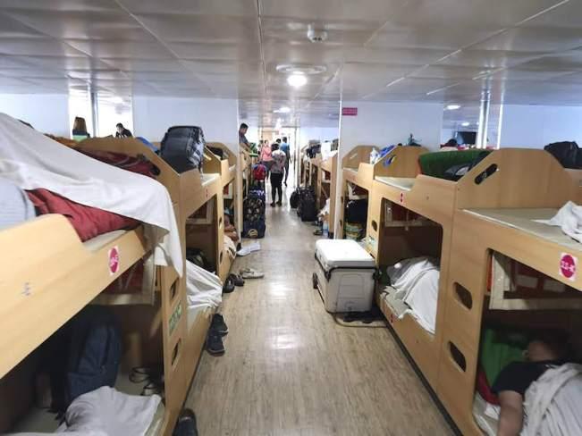 バタンガス港の2GOの船の中