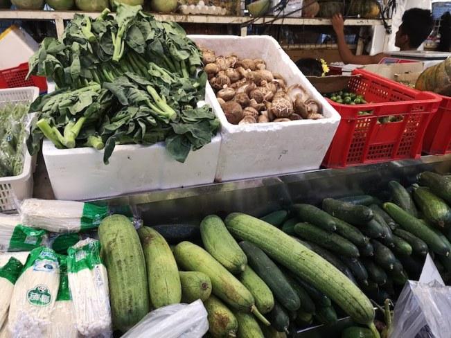 カルティマールマーケットの野菜