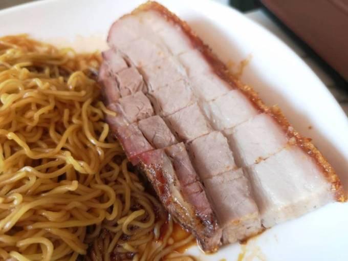 Roasted Pork Noodleの豚バラ肉