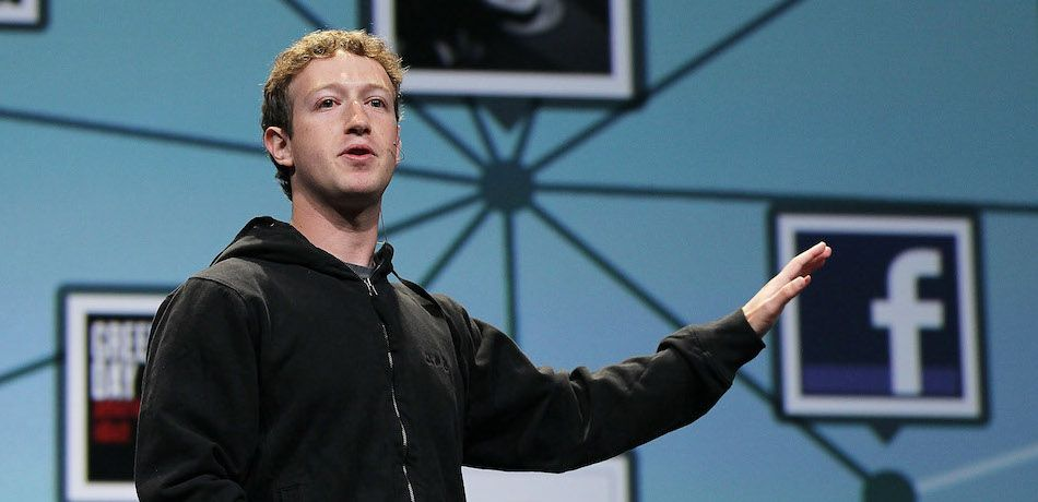 Mark Zuckerberg speaking at a conference