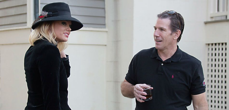 Kathryn Calhoun Dennis and Thomas Ravenel during an episode of Southern Charm