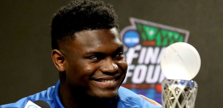 Zion Williamson at the Final Four