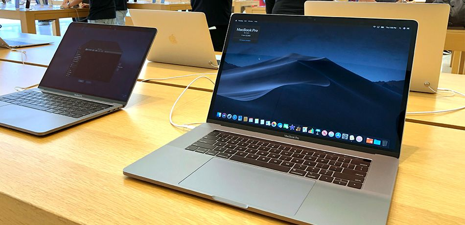 The MacBook Pro laptop is displayed at an Apple Store on June 27, 2019 in Corte Madera, California.