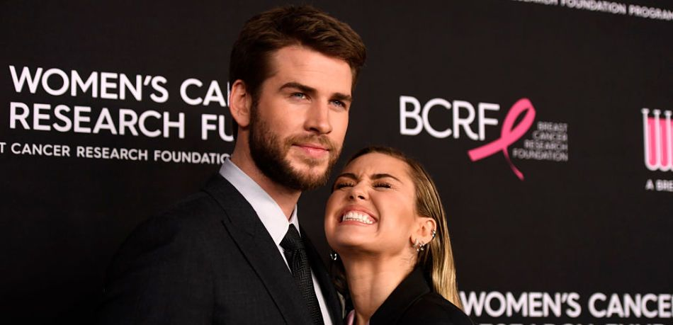 n February, Liam Hemsworth and Miley Cyrus attended The Women's Cancer Research Fund's An Unforgettable Evening Benefit Gala