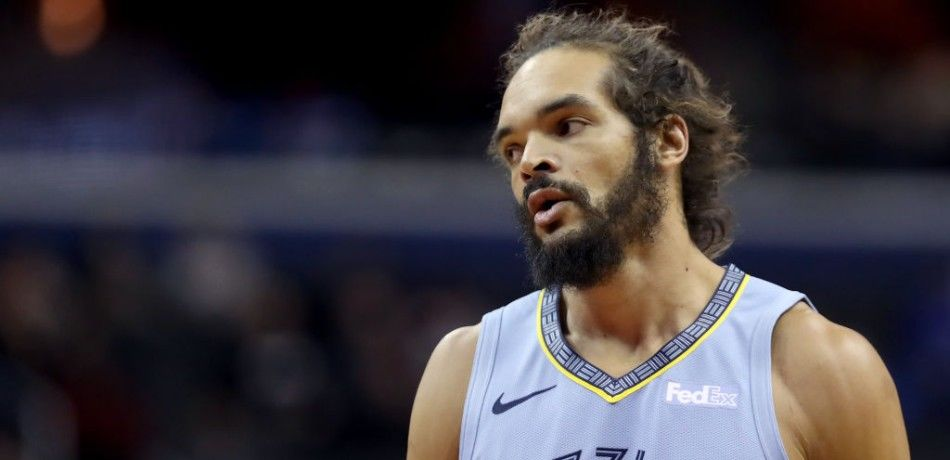 Joakim Noah of the Memphis Grizzlies looks on during a 2019 game against the Washington Wizards.