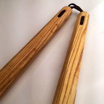 12 inch White Ash Tapered Octagon Nunchaku