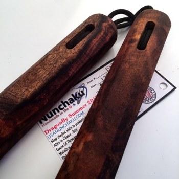 "12"" North Indian Rosewood Traditional Octagon Nunchaku"