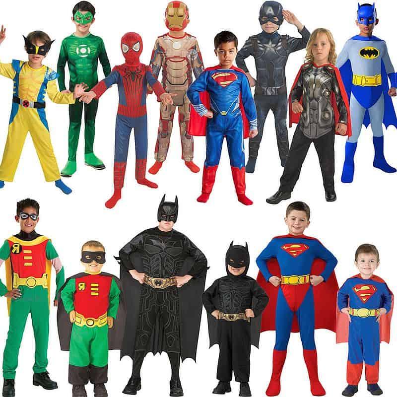 Детские костюмы супергероев из комиксов