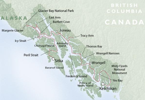 Island Chichagof Map Alaska