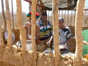 Carol Henry at the Cin-ta-Vermelha-Jundiba Village,  Brazil gaining insights into food traditions
