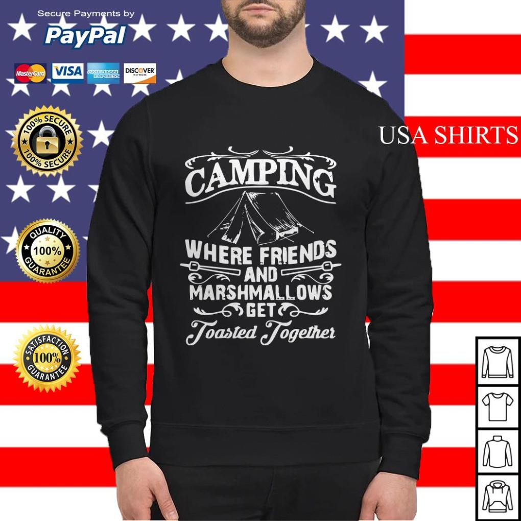 Camping where friends and marshmallows get Toasted Together Sweater