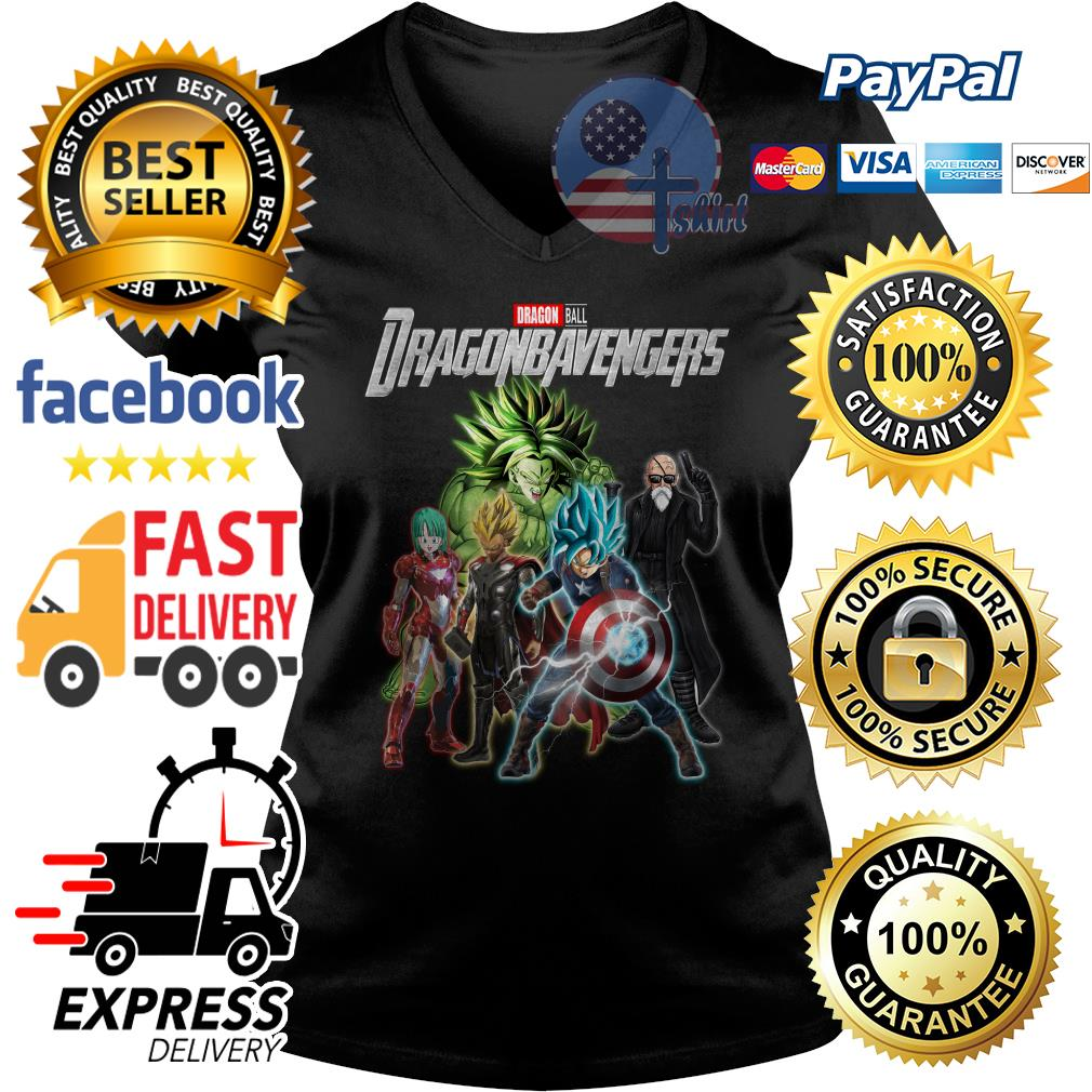 Dragon ball Dragonbavengers Avengers Endgame V-neck t-shirt