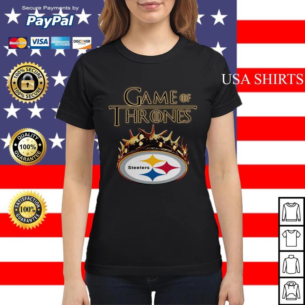 Pittsburgh Steelers Game of Thrones Crown Ladies tee