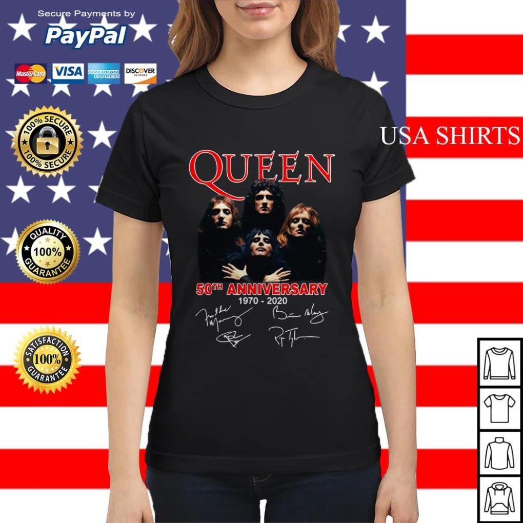 Queen 50th anniversary 1970 2020 Ladies tee