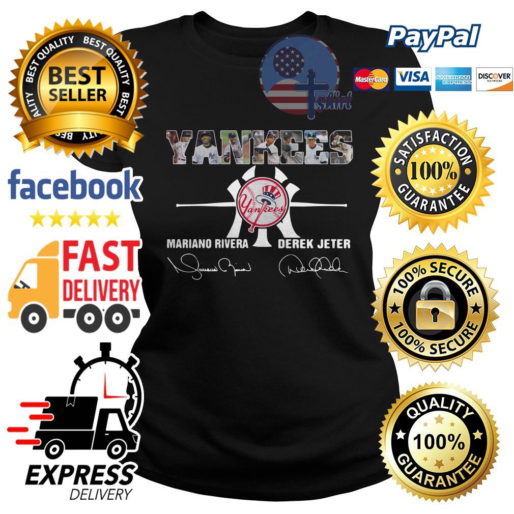 Yankees Mariano Rivera Derek Jeter Ladies tee