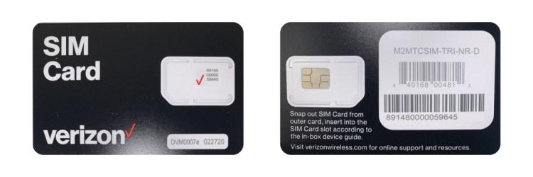 Verizon CATM1 LTE SIM