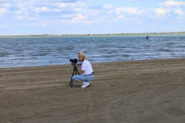 Audrey on the Shores of Lake Erie near Sandusky, OH