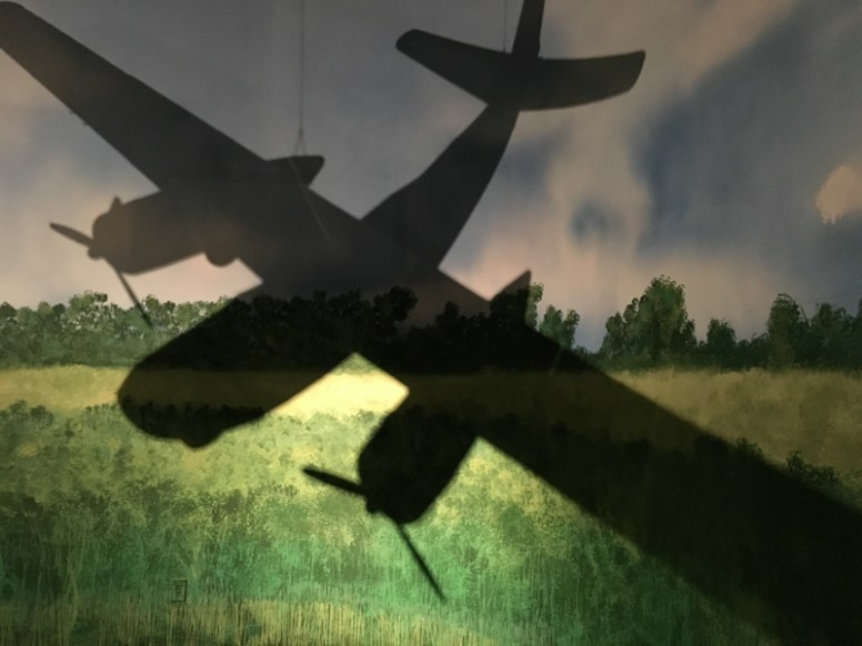 The shadow of a WWII plane on display at the Museum of Aviation, Warner Robins, GA. / ©2016 Audrey Horn Photo / www.usathroughoureyes.com