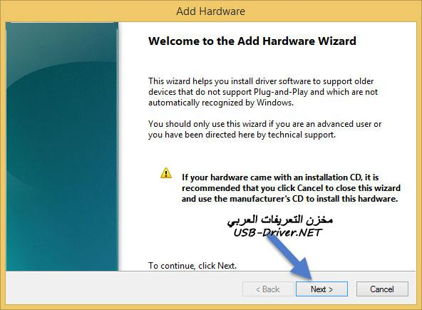 usb drivers net Add Hardware Wizard - Panasonic P85