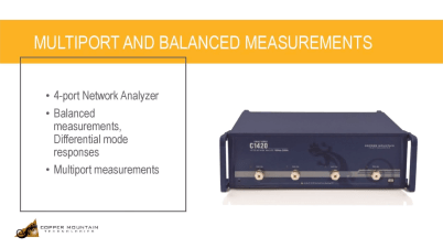 Multiport and Balanced Measurements with a USB Network Analyzer
