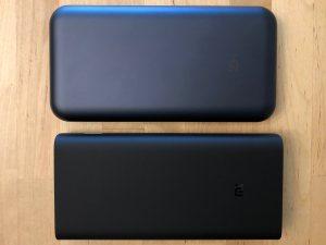 Top: ZMI QB820. Bottom: Xiaomi Mi Power Bank 3.
