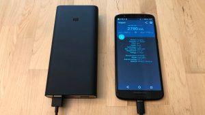 Xiaomi Mi Power Bank 3 with Moto G6