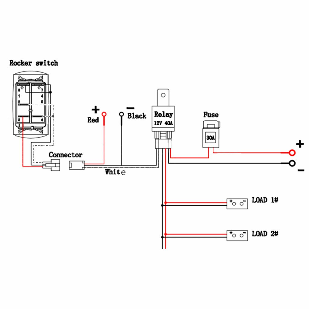 Rocker Switch Wiring Diagram 5 Wire