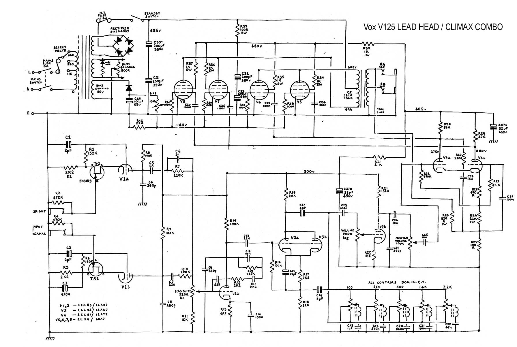 Cable Wiring Schematic