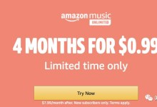 如何免费使用Amazon Music Unlimited 4个月