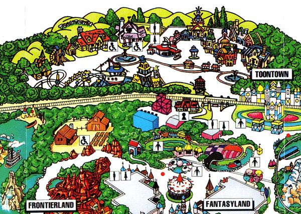 Disneyland Park Map Of Disneyland Park