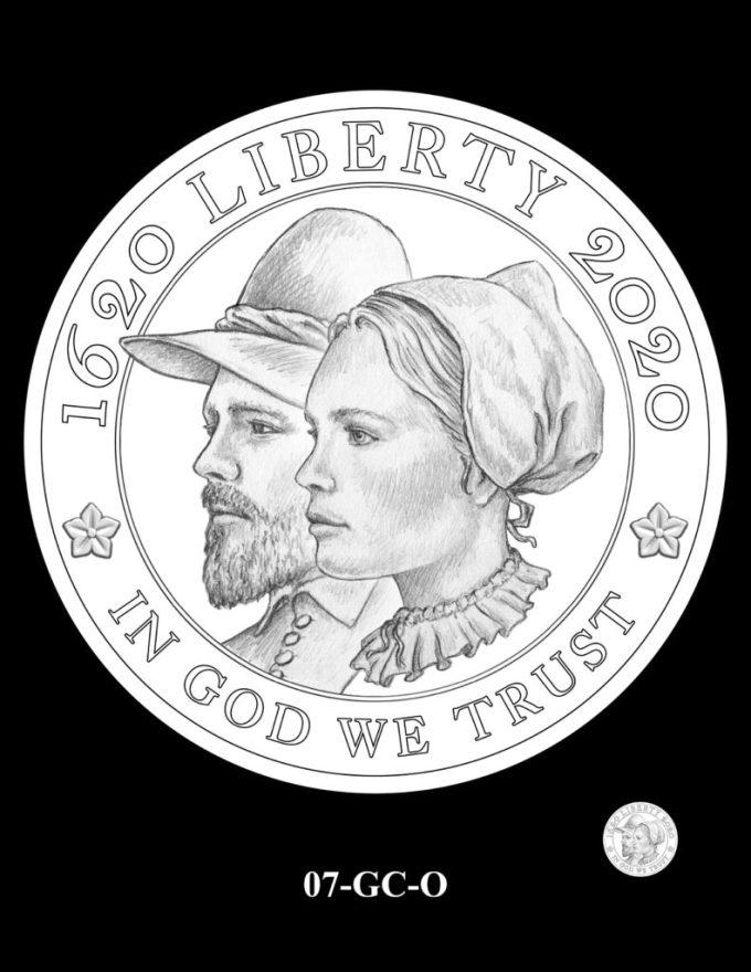 Mayflower Gold Coin Reverse