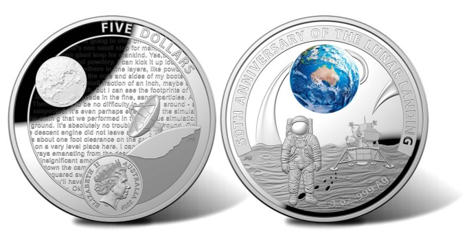 Royal Mint of Australia Apollo 11 Commemorative Coin