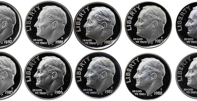 1980-1989 Roosevelt Proof Mint Set