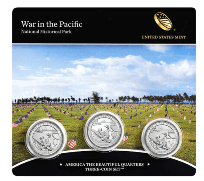 War in the Pacific Historical National Park 3-Coin Set