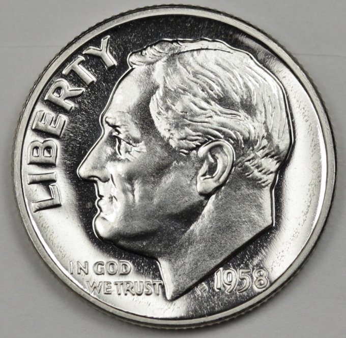 1958 Roosevelt Dime Proof