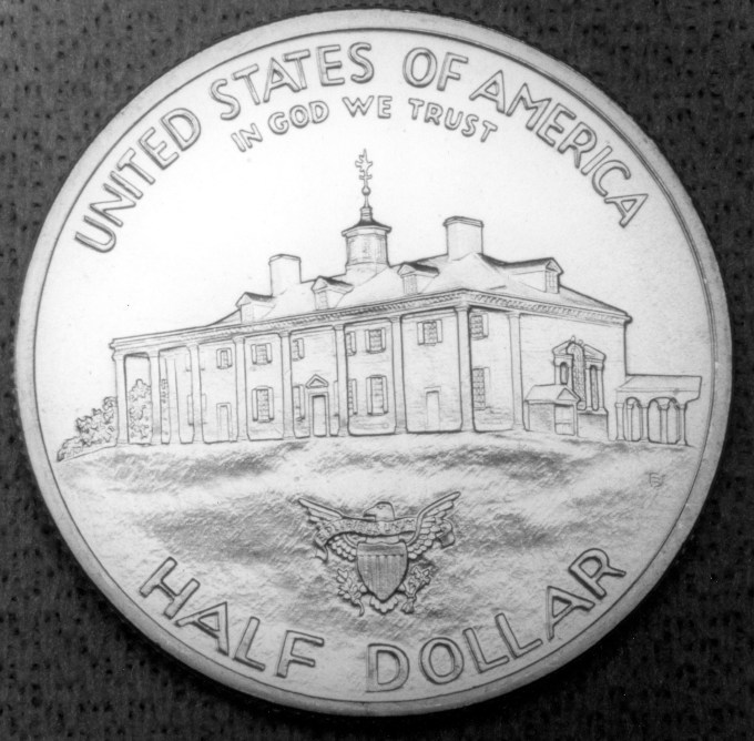 1982 George Washington Commemorative Clad Half Dollar Proof Reverse